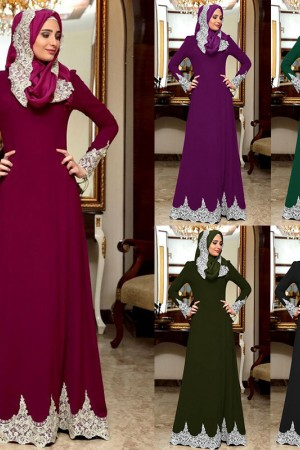 Vintage Slim Fit Long Sleeve Maxi Hijab Islamic Big Swing Aline Abaya Dress Dubai Kimono