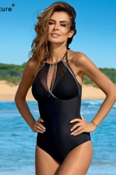 One Piece Swimsuit Plus Size Swimwear Push Up Monokini Bathing Suits Summer Beach Wear Swimming Suit
