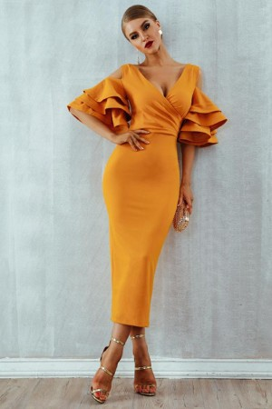Est Summer Celebrity Party Butterfly Sleeve Off The Shoulder Vneck Night Out Club Vestidos